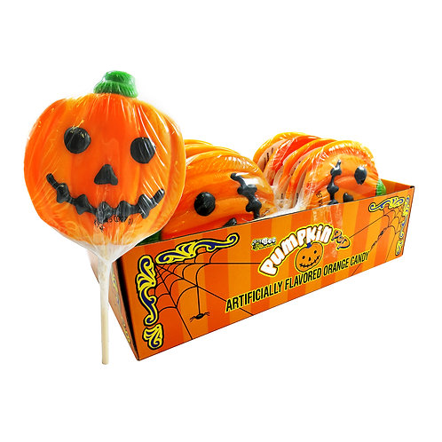 HALLOWEEN PUMPKIN FACE POP 12 CT.