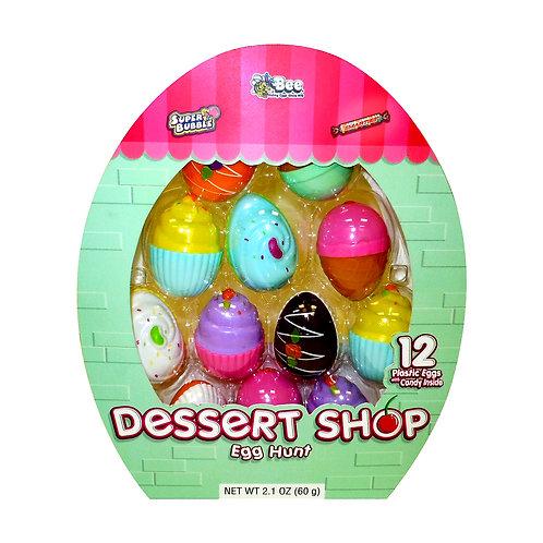 DESSERT SHOP EASTER EGGS W/ SMARTIES & SUPER BUBBLE - 12 COUNT