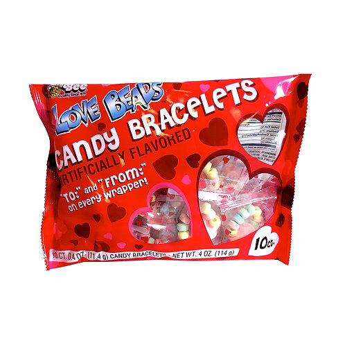 LOVE BEAD CANDY BRACELET BAG - 10 PIECES