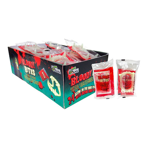 BLOODY BITES FANGS W/ LIQUID CANDY 24 CT. BOX