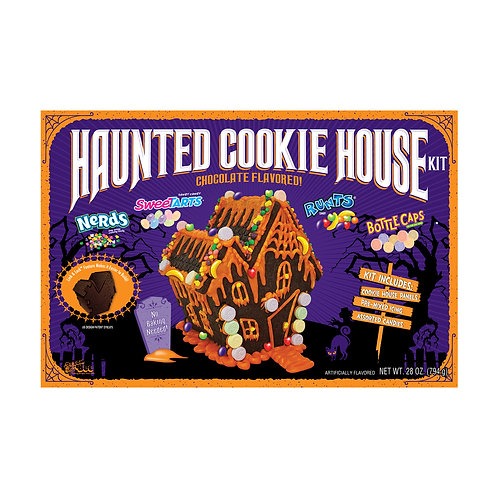 Haunted Cookie House Kit with Sweetarts, Nerd, Runts and Bottlecaps