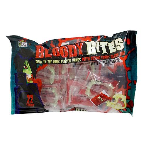 BLOODY BITES FANGS W/ LIQUID CANDY 22 CT.