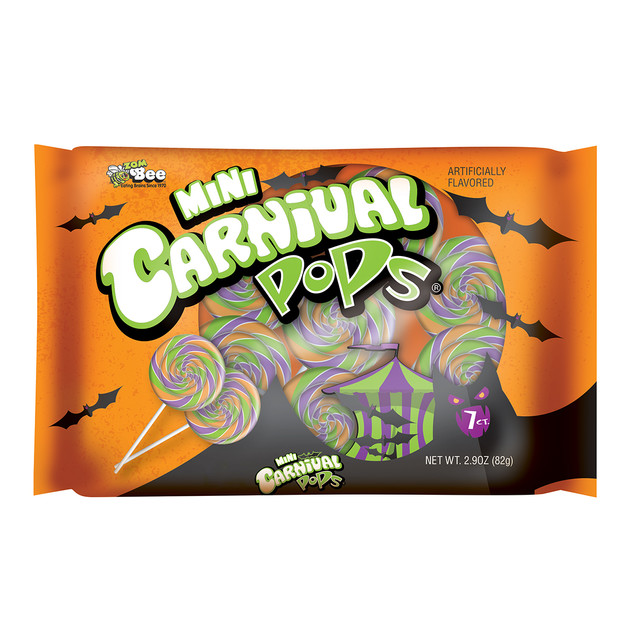 6027 Mini Carnival Halloween Pops 7ct Bag