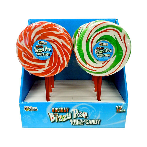 CHRISTMAS SPINNING DIZZY POP 12 PIECES