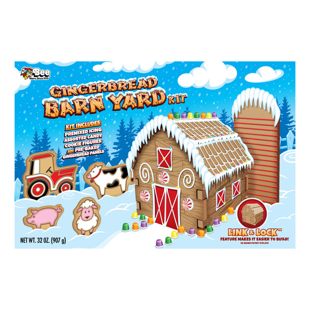 1627 Bee Gingerbread Barn Yard Kit