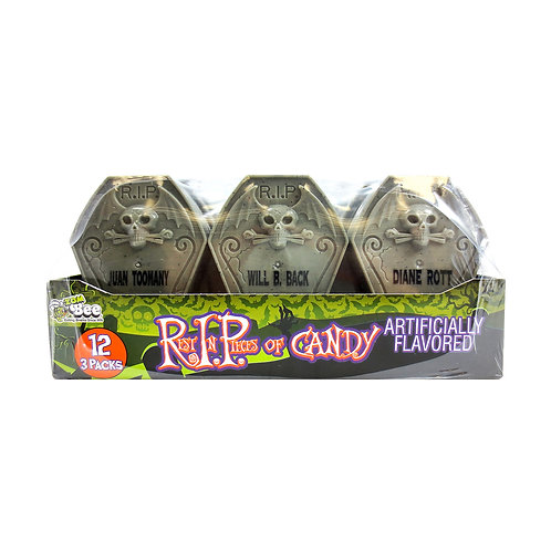 REST IN PIECES - PLASTIC TOMBSTONES FILLED W/ CANDY 36 CT.