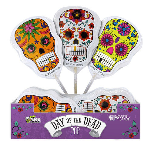 Day of the Dead Pops 12ct. Display