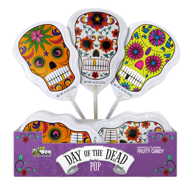 6054 Day of The Dead Pops 12ct. Display