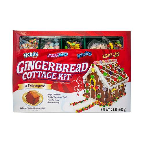 Gingerbread Cottage Kit with Sweetarts, Nerd, Runts and Bottlecaps