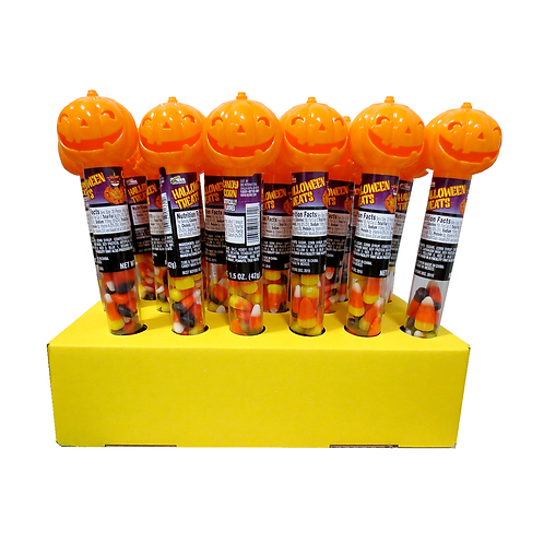 PUMPKIN TUBE WITH CANDY CORN 36 COUNT