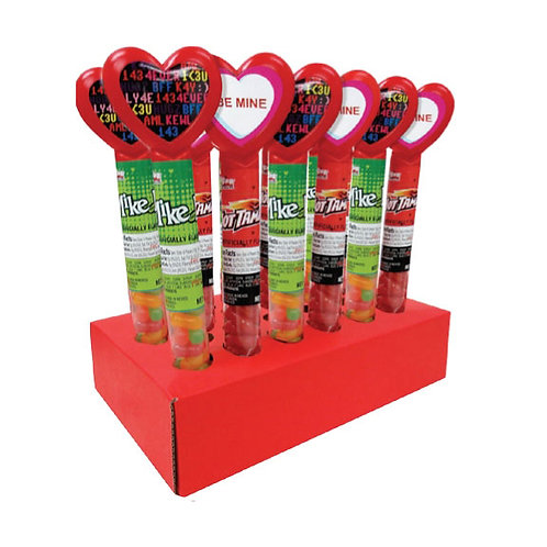 HEART TUBES W/ MIKE & IKES & HOT TAMALES - 24 CT.