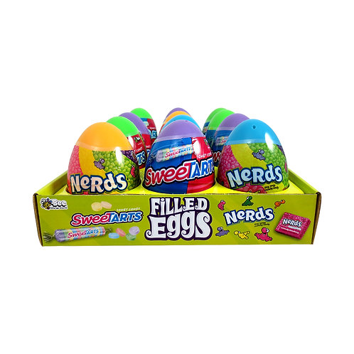SWEETARTS AND NERDS FILLED EASTER EGGS - 12 COUNT
