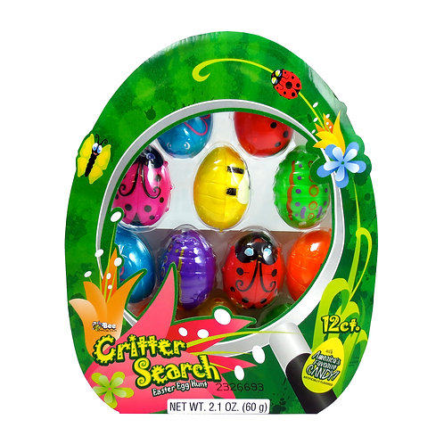 CRITTER EASTER EGGS W/ SMARTIES & SUPER BUBBLE - 12 COUNT
