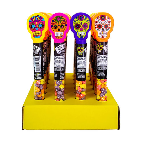Day of the Dead Tubes with Candy Skulls