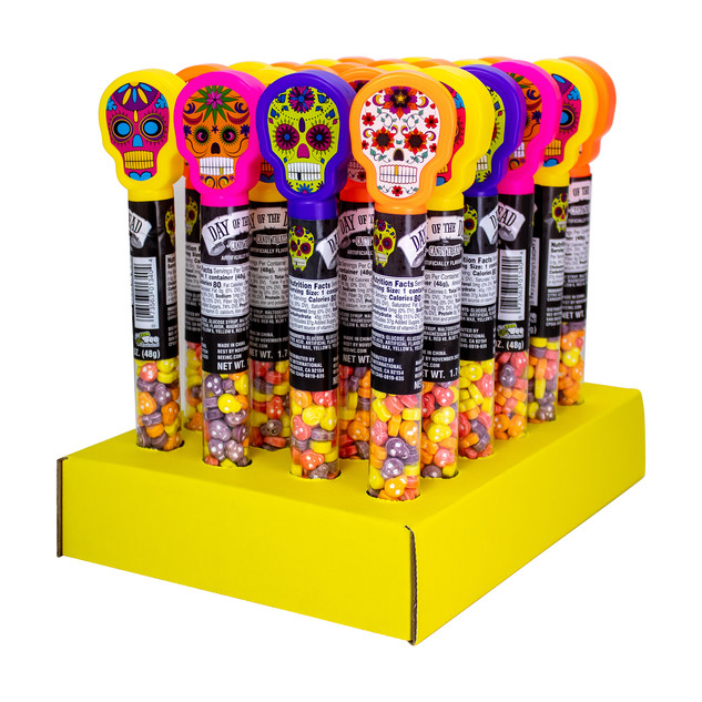 134024 Day of the Dead Tubes with Candy Skulls