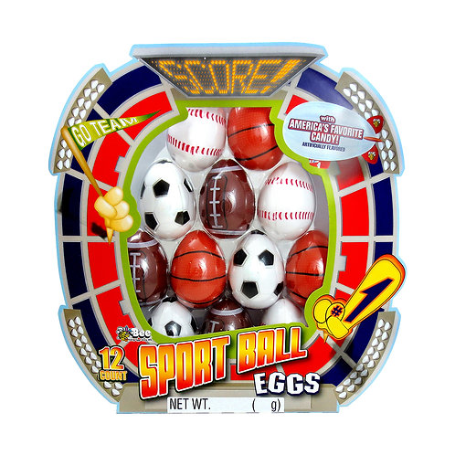 Sport Ball Eggs with Smarties