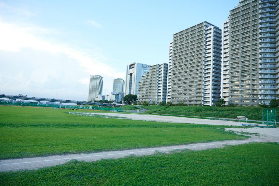 周辺ロケ(多摩川ガス橋グラウンド)