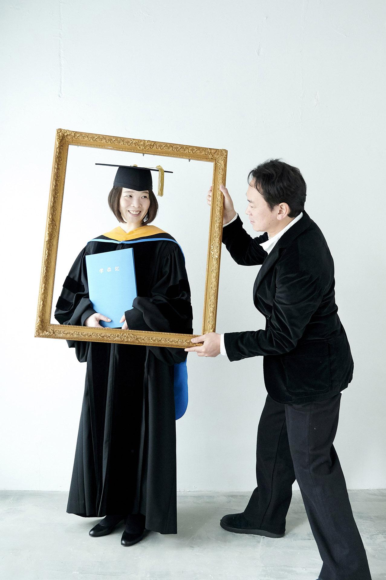 卒業記念写真
