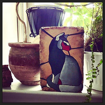 A gift for my mom! #stonepainting #catlovers #steppingstone
