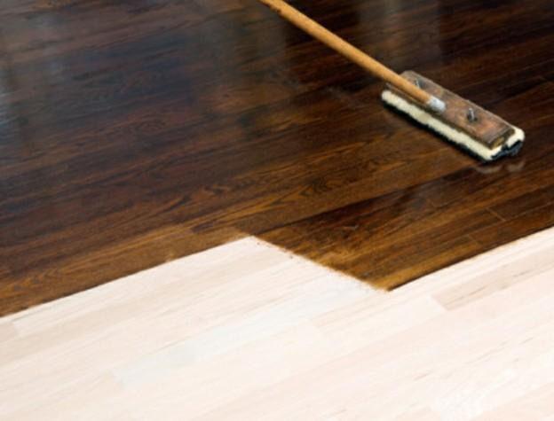 Stain hardwood floors