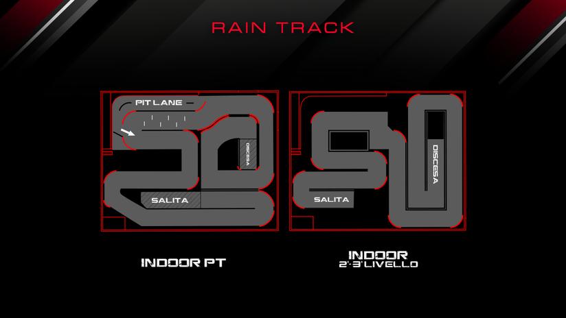 Il traciato utilizzato in caso di pioggia o inagibilità del tracciato esterno