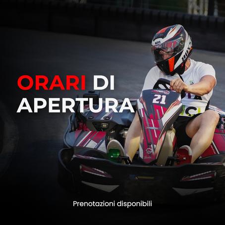 VKI - Vicenza Kart Indoor   Orari di apertura 2021