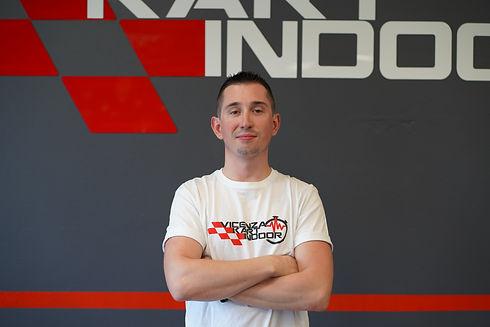 Giovanni Fanton istruttore di guida kart per adulti e bambini