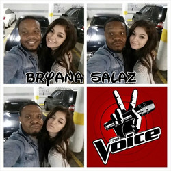 Instagram - #BryanaSalaz from #The Voice came by the #studio to visit me today.