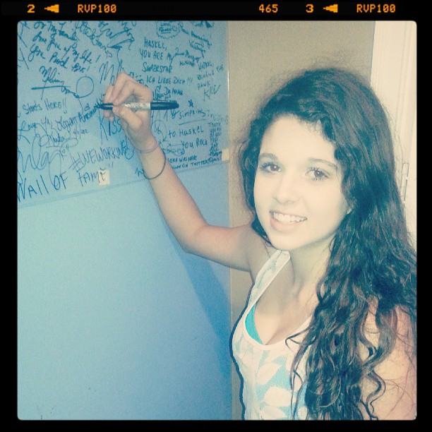 Instagram - Genesoul Artist Logan Arceneaux signing Genesoul Wall Of Fame! @loga