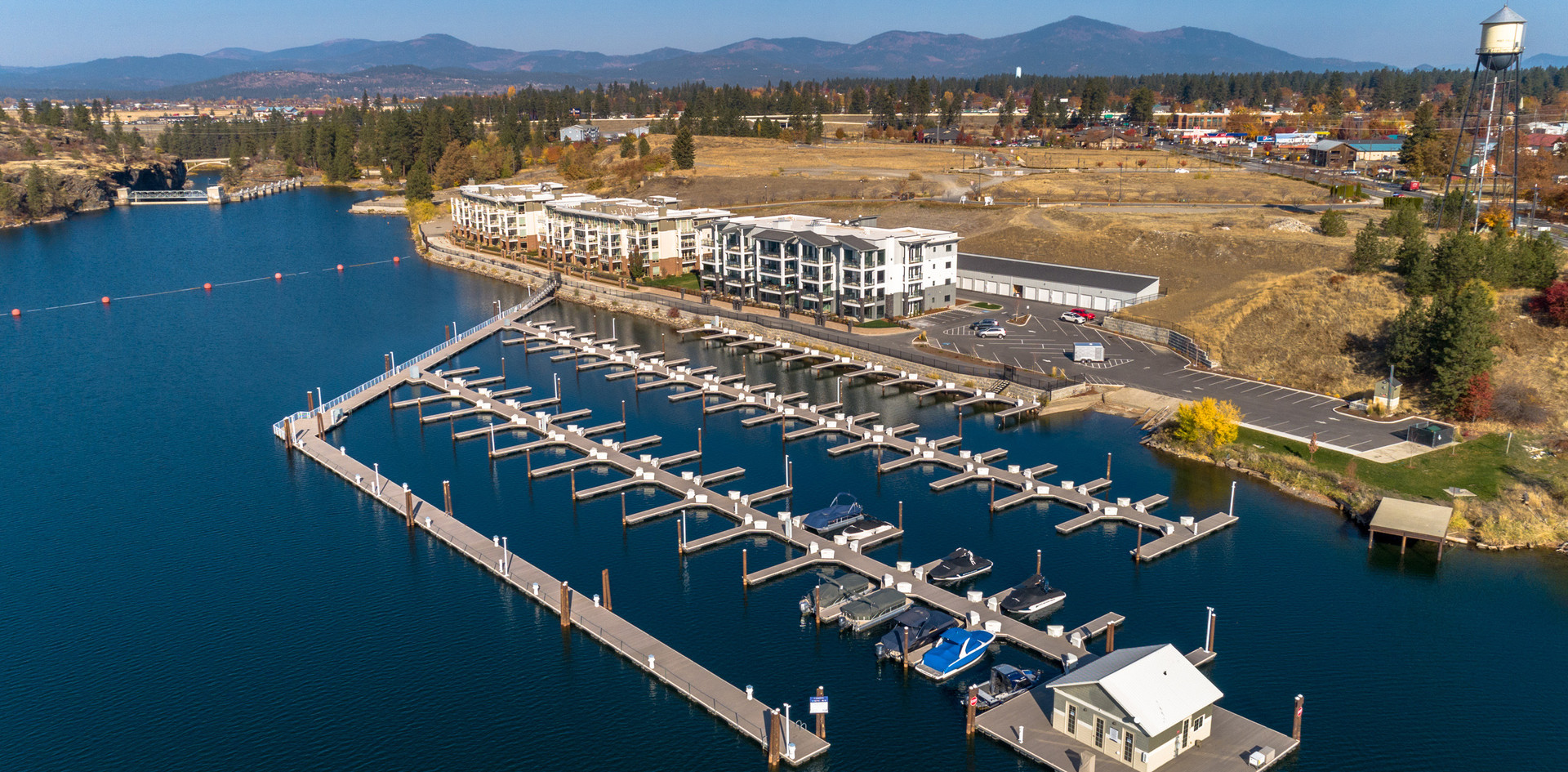 Aerial Post Fall Marina