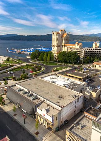 Aerial downtown Coeur d'Alene