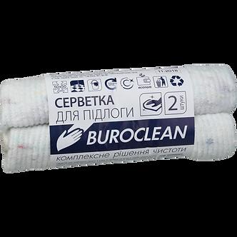 Серветка для підлоги б/п, 2 шт 50х50см, біла, Buroclean  10200152