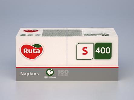 Серветки Professional S 400 шт, білі, RUTA  rt.93691