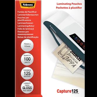 Плівки для ламінування глянсові 125 мкм, 75x105 мм, 100 шт. f.53069