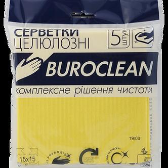 Серветки целюлозні вологопоглинаючі Buroclean 15,5х15,5, 5 шт/уп  10200113