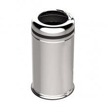 Відро з нержавіючої сталі, кругле, з кільцем для пакету сміття, 45 л, 32х57