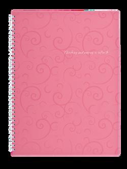 Зошит на пружині BAROCCO, А4, 80 аркушів, клітинка, колір асорті BM.2446
