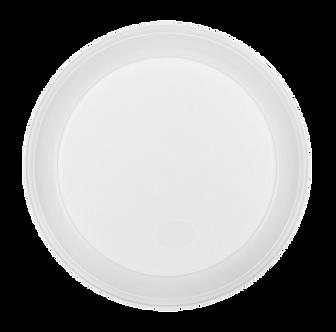 Тарілка десертна одноразова, d-165 мм, біла, 1-секція, 4 г, 100 шт