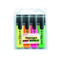 Набір маркерів Highlighter e-345, для виділення тексту E-345/4/SE