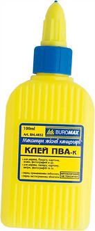 Клей ПВА BUROMAX 100 мл, ковпачок-дозатор BM4832