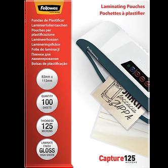 Плівки для ламінування глянсові 125 мкм, 83x113 мм, 100 шт. f.53071