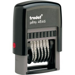 Мінінумератор 4 мм пластиковий 6-розрядний 4846