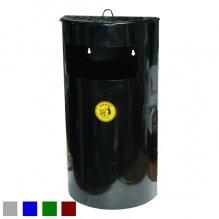 Урна-пепельница, навесная, оцинкованная, окрашенная, черная, 32х16,8х60, 22 л
