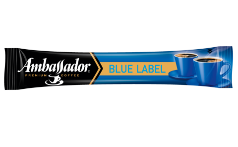 Кава розчинна Ambassador Blue Label, стік 1,8г шоубокс 25шт am.52784