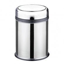 Відро з нержавіючої сталі, кругле, поліроване, для сміття, 32 л, 32х45