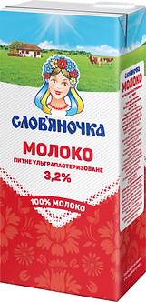 "Ультрапастеризоване молоко ""Слов'яночка"" 3,2% жиру 1л  sl.11596"