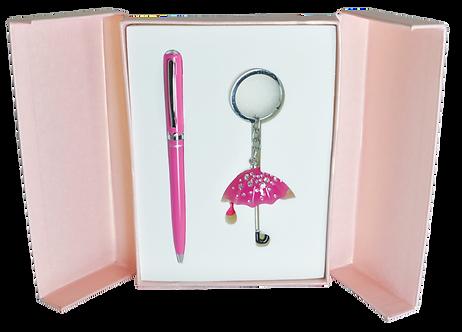 """Набір подарунковий """"Umbrella"""": ручка кулькова + брелок, LS.122022"""
