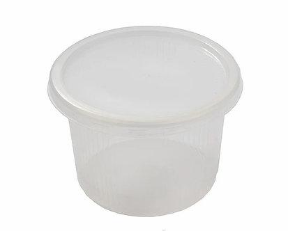 Контейнер разовий для харчових продуктів, полімерний, круглий, 500 мл, 1000шт