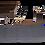 Thumbnail: Набір настільний з натур. дерева, 5 предметів, горіх, черв.дерево  5105
