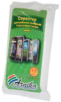 Серветки вологі для мобільних телефонів 15 шт 30664